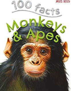 100 Facts Monkeys & Apes- Primates, Chimps, Educational Projects, Fun Activities, Quizzes and More!