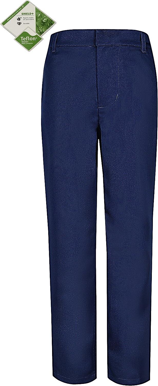Bienzoe Boy's School Uniforms Durable Adjustable Waist Dress Pants: Clothing