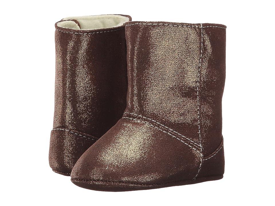 Baby Deer Soft Sole Shimmer Boot (Infant) (Bronze) Girl