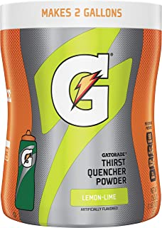 Gatorade Thirst Quencher Lemon Lime Powder, 18.3 Ounce, 12 Count (Makes 2 Gal Each)