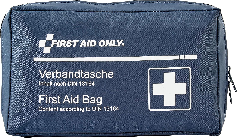 First Aid Only Bolso de Vendajes para el Coche, automóviles Norma DIN13164, Azul, P-10019