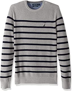 Long Sleeve Striped Crew Neck Sweater