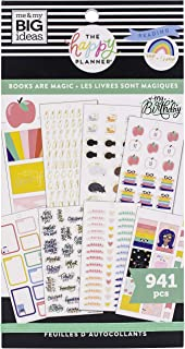 The Happy Planner Sticker Value Pack - Scrapbooking Supplies - Books Are Magic Theme - Multi-Color - Great for Projects, S...