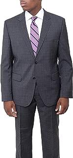 Hugo Boss The James4/sharp6 Slim Fit Charcoal Gray Glen Plaid Stretch Wool Suit