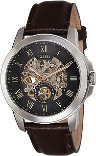 ساعة كوارتز للرجال - عرض انالوج وسوار جلد ME3095 من فوسيل، لون اسود