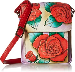 Anna by Anuschka Women's Genuine Leather Medium Messenger Style Cross Body | Chic & Stylish Organizer