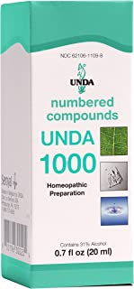 UNDA - UNDA 1000 Numbered Compounds - Homeopathic Preparation - 0.7 fl oz (20 ml)