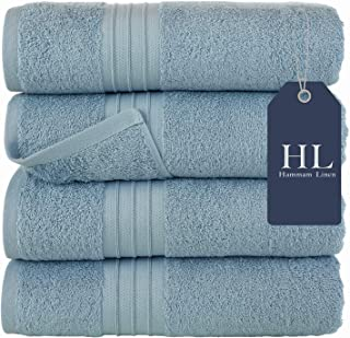 Set of 4 white Paramus Bath Towels 27x54 100/% cotton 100/% cotton Ultra- Soft and Absorbent Towels 27x54