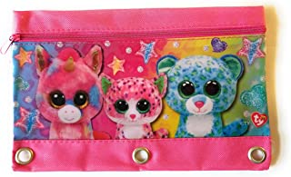 TY Beanie Boos 3 Ring Zippered Binder Pencil Pouch