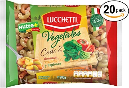 Lucchetti Codo Vegetales, 200 g x 20 paquetes