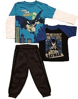 Batman Little Boys 3-Piece Set - T-Shirt, Long Sleeve Shirt, Jogger Fleece Pant