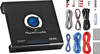 Planet Audio AC1500MK Car Amplifier and 8 Gauge Wiring Kit - 1500 Watts Max Power, 2/4 Ohm Stable, Class AB, Monoblock, Mo... photo