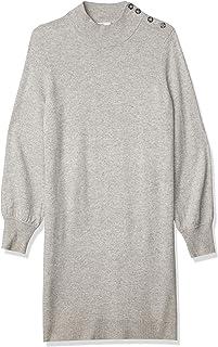 Lark & Ro 100% Cachemira Manga Larga Suave Cuello Alto suéter Vestido Chamarra sin botón para Mujer