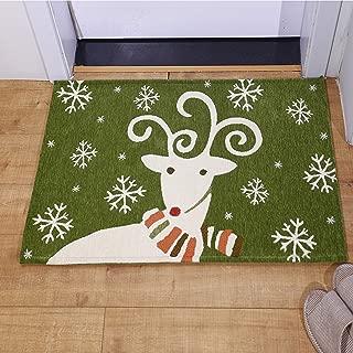 AMIDA Indoor Outdoor Christmas Mats Reindeer 2'x3',Small Entryway Area Rug 24