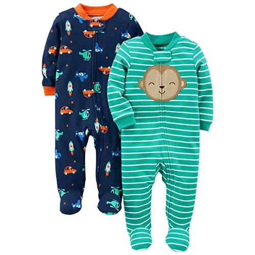 Simple Joys by Carter s Baby Boys  2-Pack Cotton Footed Sleep ... c0d08173f