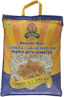 Laxmi Diabetic Friendly Basmati Rice with Lower G.I. Index Value, 10 Pounds