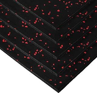 IncStores Premium 3/8in x 4ft x 6ft Rubber Gym Flooring Mats Vulcanized Rubber Flooring Equipment Mats