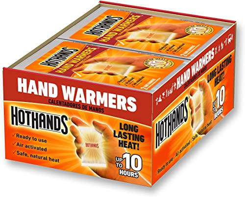 Hand Warmers - Long Lasting Safe Natural Odorless Air Activated Warmers - Up to 10 Hours of Heat - 40 Pair