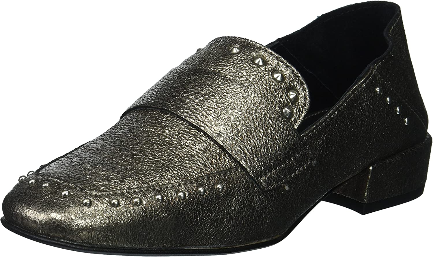 Kenneth Cole New York Womens Bowan 2 Slip on Loafer with Stud Detail Loafer Flat