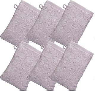 Made Easy Kit Bath Mitts - Pack of 6 - (6 x 9) European Style Washcloth by MEK (Lavender, 6 x 9 inches)