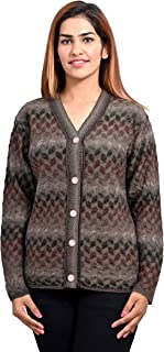 aarbee Women's Blended V-Neck Cardigan