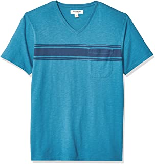 Goodthreads Amazon Brand Men's Lightweight Slub V-Neck Pocket T-Shirt