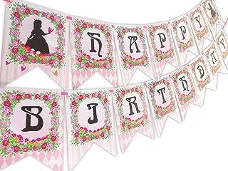 Princess Fairy Tale Happy Birthday Banner Pennant