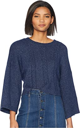 Extra Whip Cable Knit Mock Neck Sweater