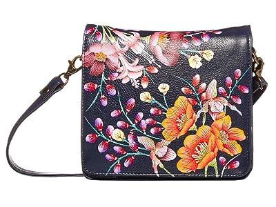Anuschka Handbags Small Messenger 669 (Moonlit Meadow) Handbags