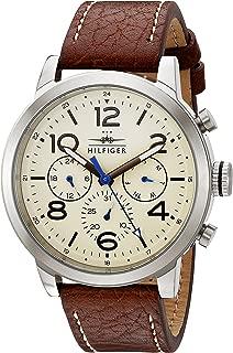 Men's 1791230 Analog Display Japanese Quartz Brown Watch