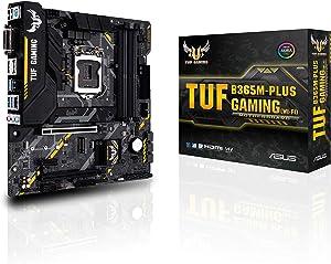 Asus TUF B365M-PLUS Gaming (Wi-Fi) LGA1151 (300 Series) DDR4 HDMI WiFi M.2 mATX Motherboard (Renewed)