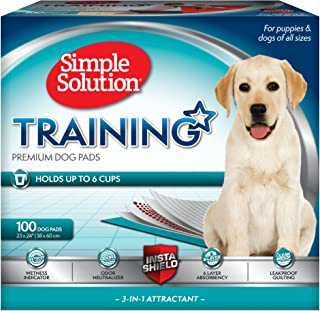 Simple Solution Training Puppy Pads | 6 Layer Dog Pee Pads, Absorbs Up to 6 Cups of Liquid | 23x24 Inches
