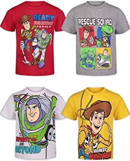 Disney Toy Story Toddler Boys Short Sleeve 4 Pack T-Shirts Buzz Woody Forky