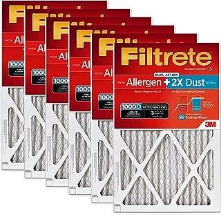 Filtrete 16x25x1, AC Furnace Air Filter, MPR 1000D, Micro Allergen PLUS DUST, 6-Pack