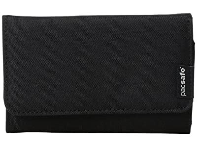 Pacsafe RFIDsafe LX100 RFID Blocking Wallet (Black) Wallet Handbags