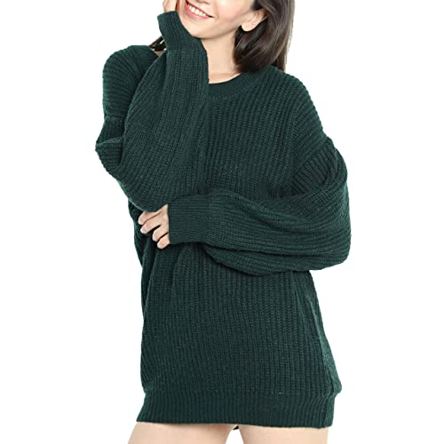 2e08b9ad081 Liny Xin Women s Cashmere Oversized Loose Knitted Crew Neck Long Sleeve  Winter Warm Wool Pullover Long