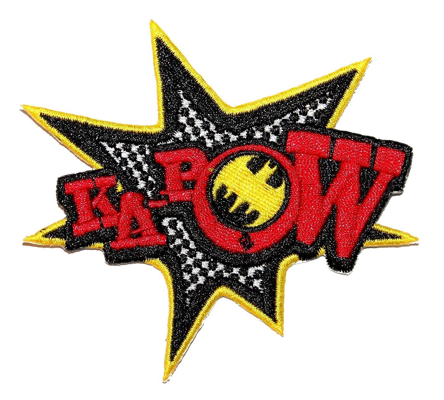 Ka-Pow Classic Retro Batman Effect DC Comics Superhero Iron On Applique Patch