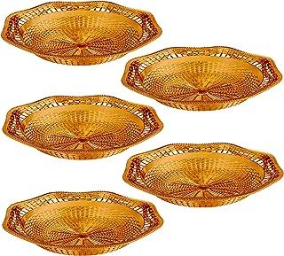 Impressive Creations Reusable Decorative Serving Dish – Plastic Basket with Elegant Rose Gold Finish – Functional and Vintage Design