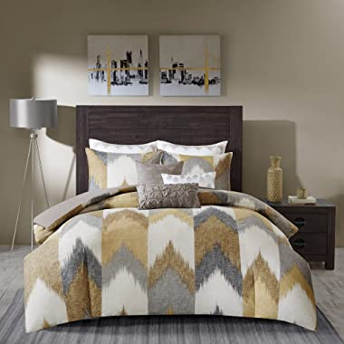 Ink+Ivy Alpine Duvet Cover Full/Queen Size - Navy, Yellow, King/California King