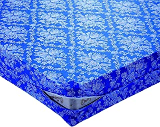 FUNDA colchón AZUL FLORES ESTAMPADO cama 135 x 200cm + 25cm SANITARIO-ECOLOGICA* ANTI-ALERGICA* LAVABLE* ANTI-ACAROS* TRANSPIRABLE* CREMALLERA EN L (pack TOBILLEROS RegalitosTV) (135_x_200_cm )