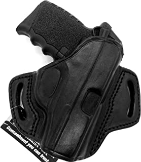 HOLSTERMART USA TAGUA BH3 Right Hand Black Leather Open Top OWB Belt Holster for SCCY DVG-1 with Fixed Iron Sights
