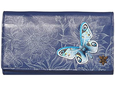 Anuschka Handbags Triple Fold RFID Clutch Wallet 1150 (Garden of Delights) Bags