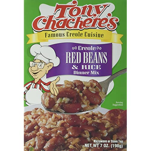 Tony Chachere Rice Dinner Mix, Red Beans and Rice, 4 Count