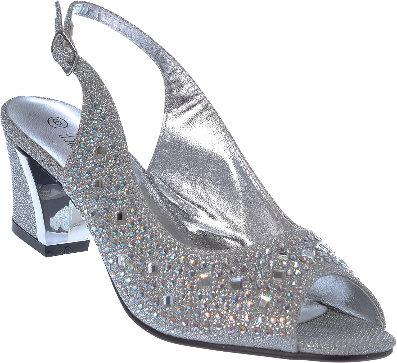 Lime01 Womens Evening Sandal Rhinestone Dress-shoes