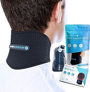 Sports Laboratory ® Collarín Cervical Para el Dolor de Cuello Ajustable Con Turmalina e Imanes Con Capacidad de Emitir Calor (Large)