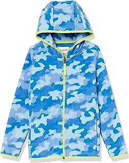 Amazon Essentials Boys' Polar Fleece Full-Zip Hooded Jacket