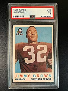 1959 Topps #10 Jim Brown PSA EX 5#43940029 CLEVELAND BROWNS