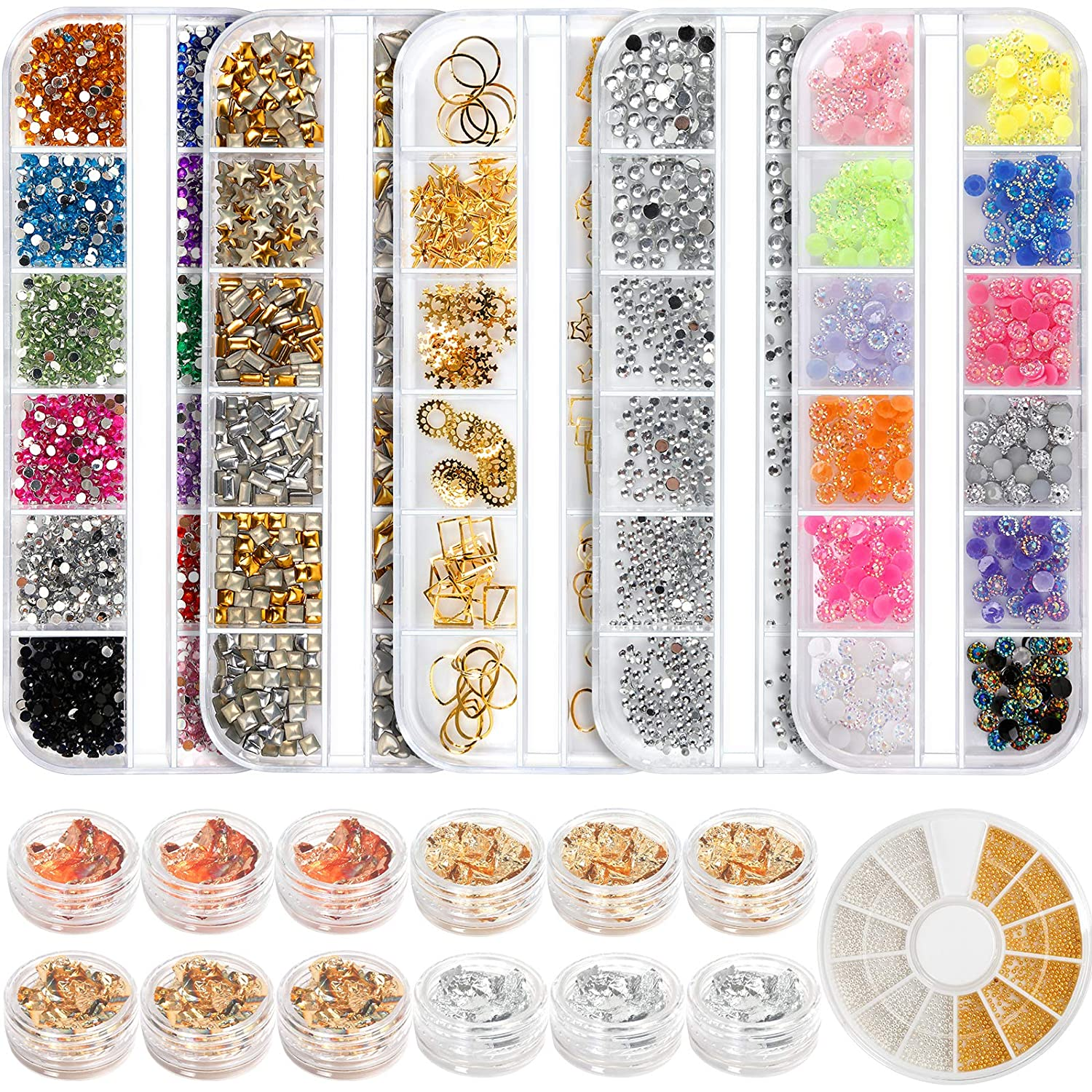 Teenitor Professional Nail Kit Free Shipping Cheap Bargain Gift with 6 Art Large-scale sale Rhinestones Boxes
