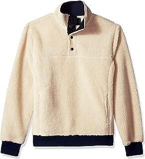 Men's Sherpa Fleece Mock Neck Pullover