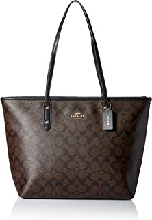 Coach Women's Signature City Zip Tote
